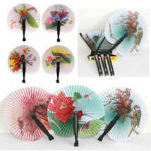 Chinese Paper Folding Hand Fan - One Fan with Random Color and Design image 4