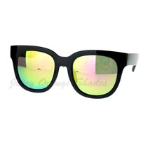 Womens Classic Rounded Square Sunglasses Multicolor Mirror Lens - $9.95