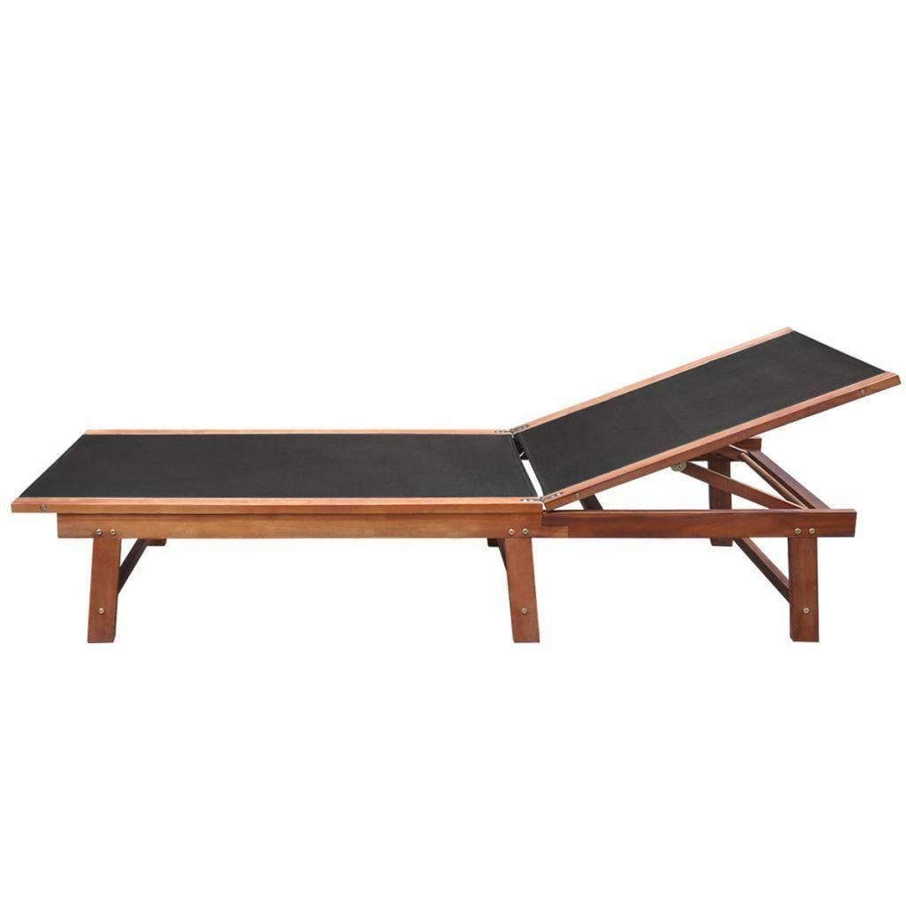 vidaXL Acacia Wood Sunlounger Garden Recliner Pool Furniture Daybed Outdoor