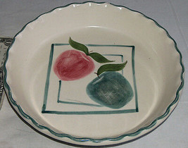 "Laurie Gates Los Angeles California Ceramiche 10 "" Fluted Apple Pie Pias... - $20.26"