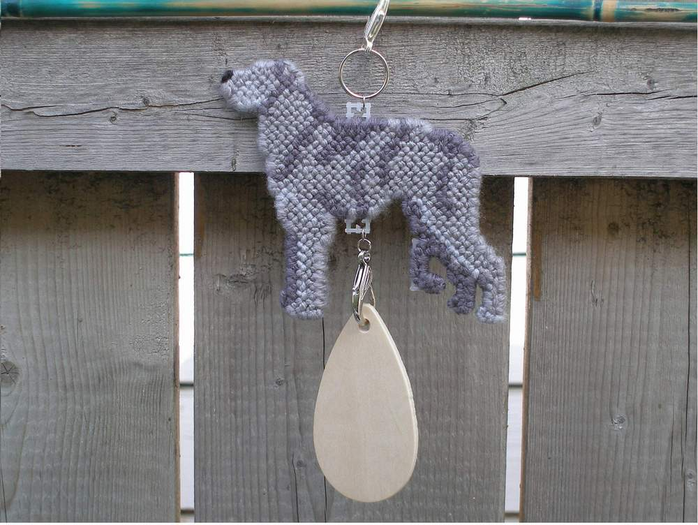 Scottish Deerhound crate tag or hang anywhere, handmade hound sighthound dog art