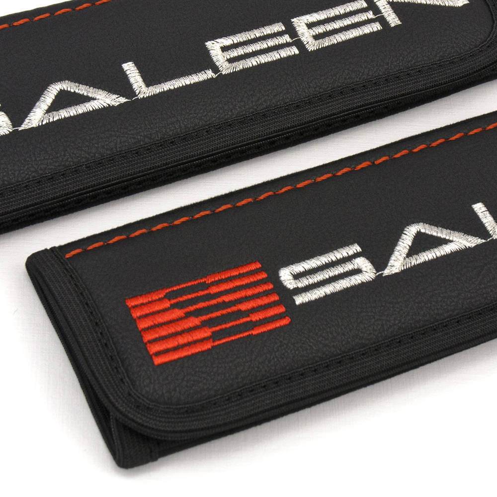 Car Seat Belt Leather Shoulder Pads Covers Audi S-Line Embroidery Logo