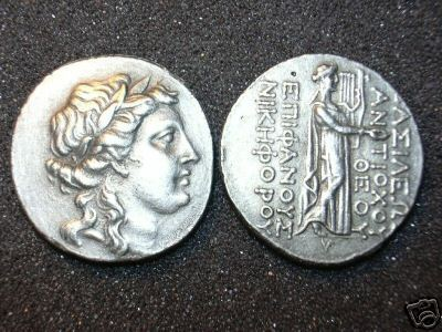 B 109 (DD-10925) Tetradrachm of Antiochus IV COPY