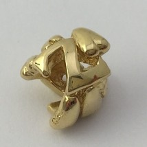 Authentic Trollbeads 18k Gold Letter Z Bead Charm 21144Z, New - $399.00