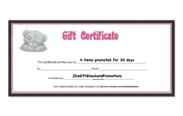 $15  Gift Certificate for Promotional Services - $15.00