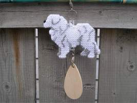 Great Pyrenees dog crate tag or hang anywhere, hand stitched kennel acce... - $24.00