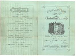 1875 Prescott school graduation program Somerville MA ephemera - $9.99