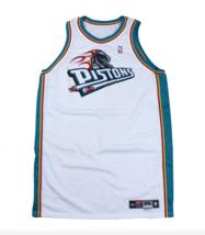 New Vtg Nike NBA Authentics Detroit Pistons Blank Gamer Jersey White Tea... - $296.95