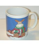 Reindeer Drinking Hot Chocolate Mug - $9.99