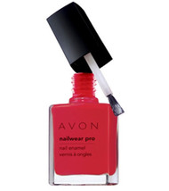 Avon Nailwear pro Nail Enamel Real Red New Boxed - $4.94