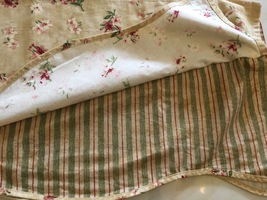 "Waverly Fontanella Gold Antique Floral With Stripe Layer Scalloped 15 x 75""/3 ""r - $26.99"