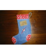 ReCycled Western Denim Christmas Stocking - $17.00