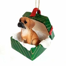 Puggle Gift Box Christmas Ornament Brown - DELIGHTFUL! - $21.53