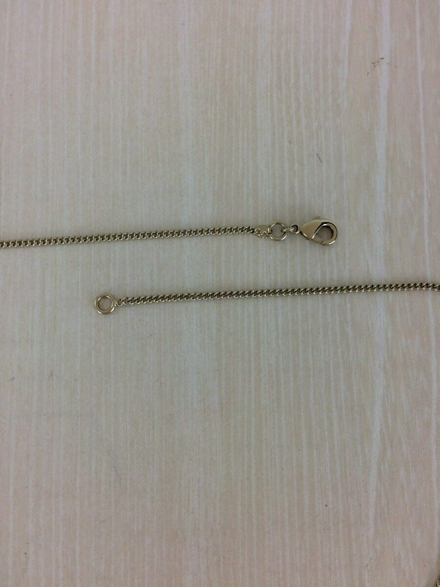 Auth necklace gold 31RUECAMBON plate 07C