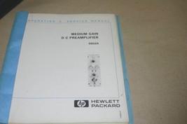HP Hewlett Packard 8802a Medium gain DC Preamplifier Operating Service Manual - $29.35