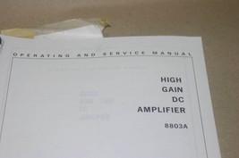 HP Hewlett Packard 8803a High Gain DC Amplifier Operating Service Manual - $29.35