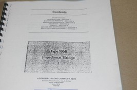 Genrad 1656 Impedance Bridge B Instruction Operating Guide Manual general Radio - $29.35