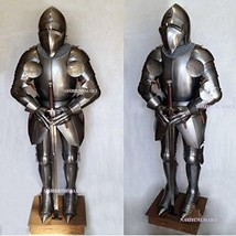 NauticalMart Medieval Knights Bascinet Full Suit Of Armor Wearable Body Armour - $989.00
