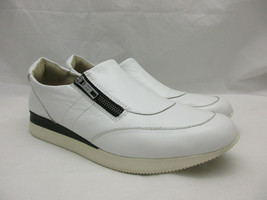 Naturalizer White Leather Zipper Comfort Shoes Women's Size 11 - $27.66