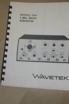 Wavetek 184 5 MHz Sweep Generator Operation Instruction Manual - $24.50