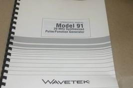 Wavetek 91 20MHz Synthesized Pulse/Function Generator Operation Operator Manual - $25.43