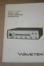 Wavetek 182A 4 MHz Function Generator Operation Instruction Manual - $24.50