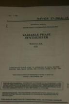 Wavetek 650 Variable Phase Synthesizer Calibration Instruction Technical Manual - $25.00