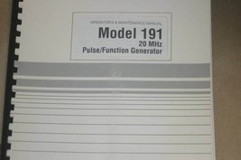 Wavetek 191 20MHz Pulse/Function Generator Operator's Maintenance Manual - $25.43