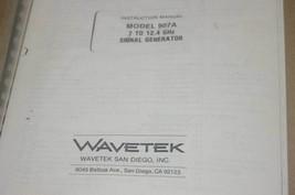 Wavetek 907A 7-12.4 GHz Signal Generator Instruction Operating Manual - $25.43