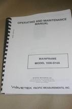 Wavetek Mainframe 1038-D14A Operating maiuntenance Manual - $25.95