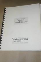 Wavetek 148 20MHz AM/FM/PM Generator Instruction Operating Manual - $24.50