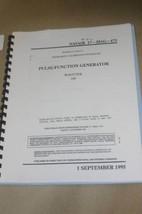 Wavetek 166 Pulse Function Generator Calibration Instruction Technical Manual - $24.50