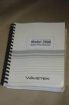 Wavetek 2000 System Pulse Generator Operating Maintenance Instruction Manual - $25.95