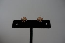 Tory Burch T-LOGO Stud Earrings Rose Gold Tone. New - $45.99