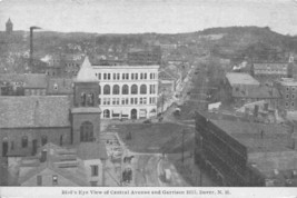 Central Avenue Garrison Hill Panorama Dover New Hampshire 1910c postcard - $6.93