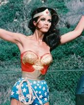 Lynda Carter As Wonder Woman Arms Raised 16x20 Canvas Giclee - $69.99