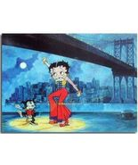 Betty Boop under the Brooklyn Bridge Animated 3d Lenticular 4x6 inch Print - $12.59