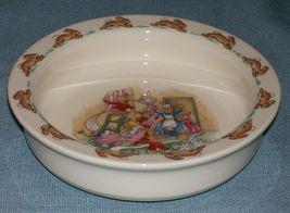 Royal Doulton Bunnykins- Baby Plate /Child's Bowl -Home Decorating Wallpaper EUC image 3