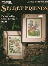 Secret Friends Leisure Arts Cross Stitch Pattern Leaflet No. 2458 - $9.98