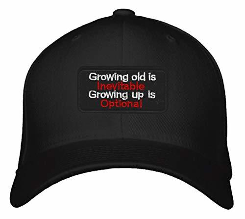 Growing Old Is Inevitable Growing Up Is Optional Hat - Adjustable Snapback Cap F