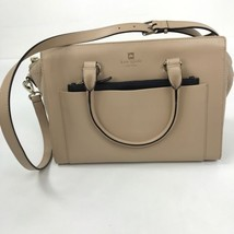 "Kate Spade ""Adelia"" Large Leather Crossbody Shoulder Handbag Nude Blush ... - ₨8,419.22 INR"