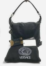 AUTHENTIC VERSACE BLACK HOBO HANDBAG SHOULDER - $346.50