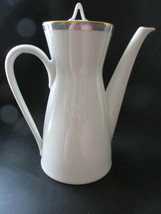 """Rosenthal Gala Blue CLASSIC ROSE Coffee Pot & Lid 4 Cup 8 1/8"""" Loewy Mid... - $74.24"""