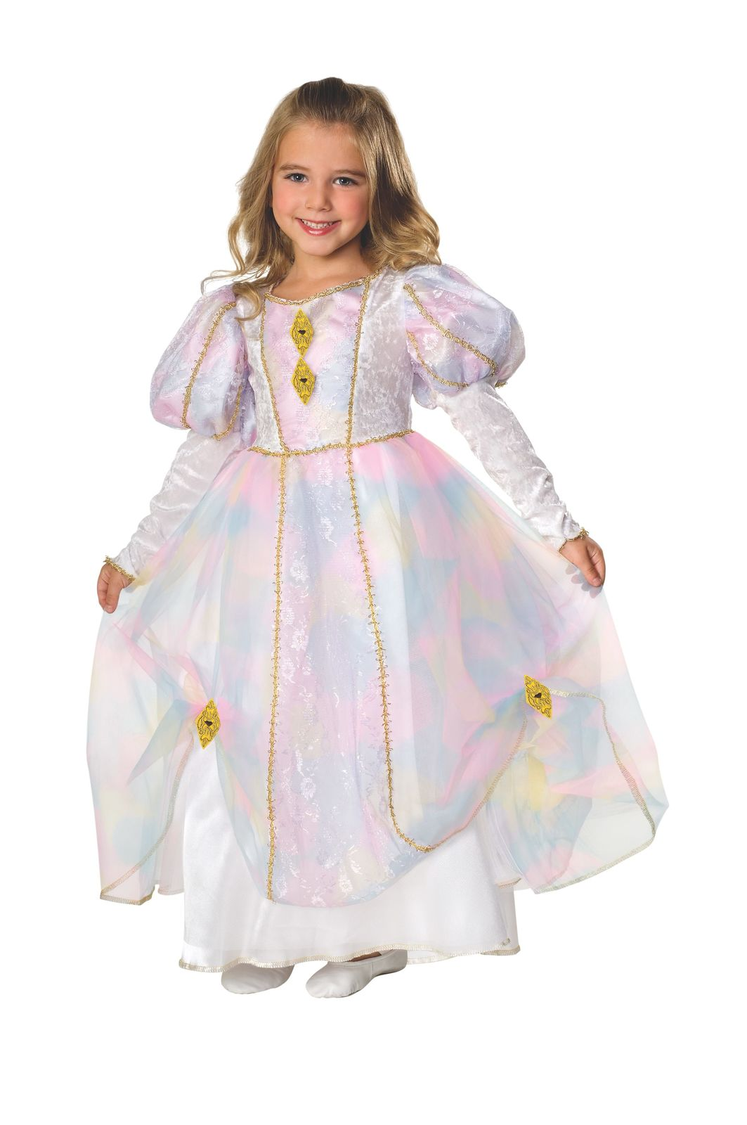 Primary image for Girls Rainbow Princess Halloween Costume Size 5-7 Years