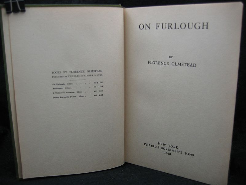 On Furlough by Florence Olmstead 1918 Charles Scribner