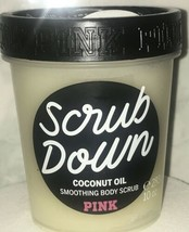 Victorias Secret PINK COCONUT Oil Smoothing Body Scrub Down Sugar Exfoliate 10oz - $21.12