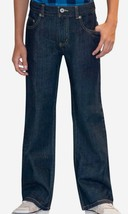 Faded Glory Boys Boot Cut Jeans Rinse Size 10 Husky Adjustable Waist NEW - $14.84