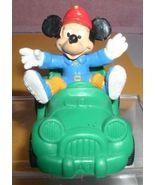 Disney Mickey  Green Car Walt Disney Prod. Bully cake topper PVC Figurine - $16.82