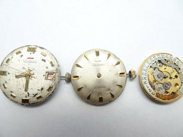 VINTAGE WALTHAM 25 17 7 JEWELS WATCH MOVEMENTS ONE RUNS FOR RESTORATIONS... - $120.94