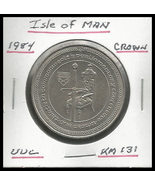 """1984, Isle of Man: Commemorative Crown, """"30th Parliament Conference"""" Coin - $3.40"""